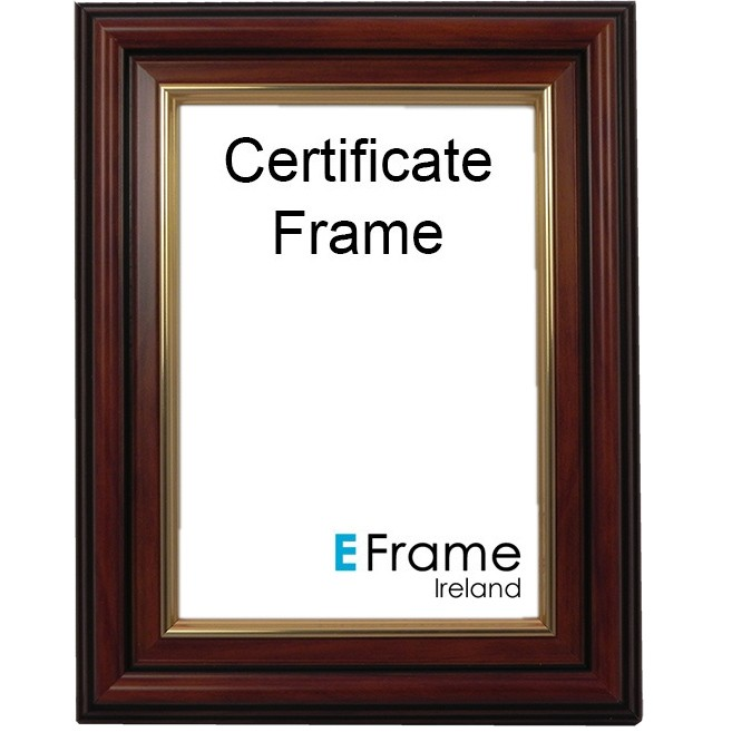 Photo Frames Certificate Frame A4 Moulded Brown And Gold