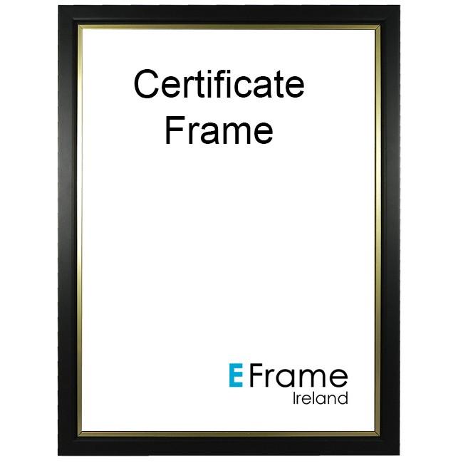 Photo Frames Certificate Frame A4 Black Gold Slip Eframe Ireland