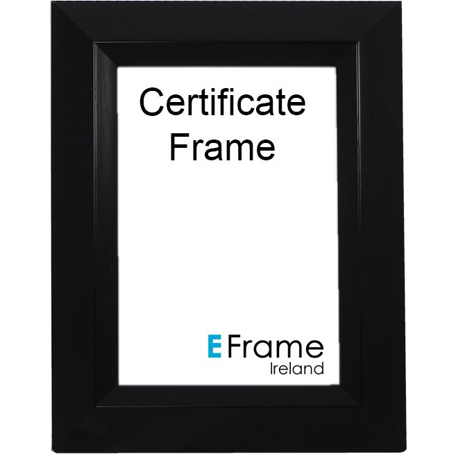 Certificate Frame A4 Black Chamgered Edge