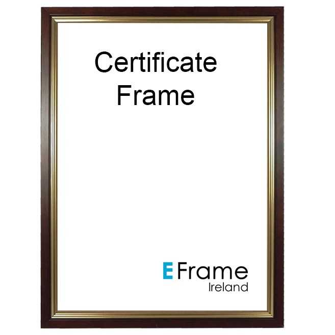 A4 Wooden Certificate Frame Brown