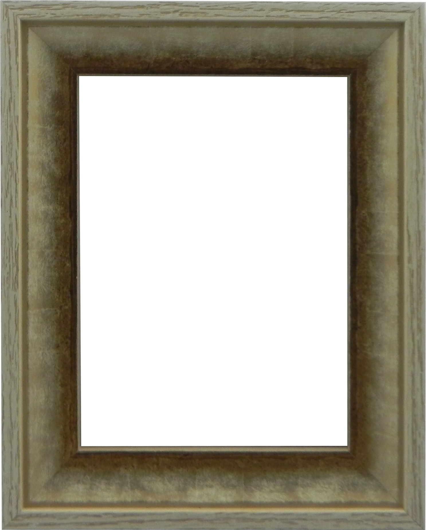 Picture Frame Contemporary White Gold