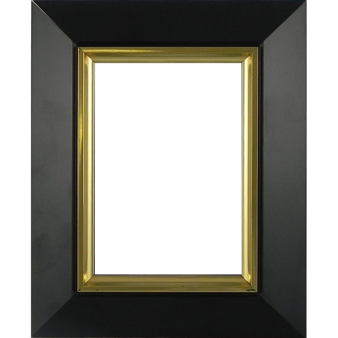 Picture Frame Slick Black Gold Line
