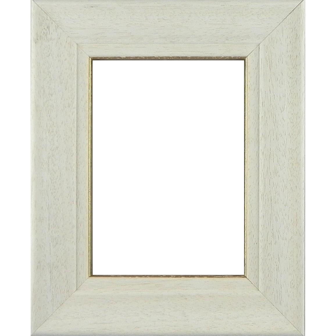 Picture Frame White Lime Frame Gold line