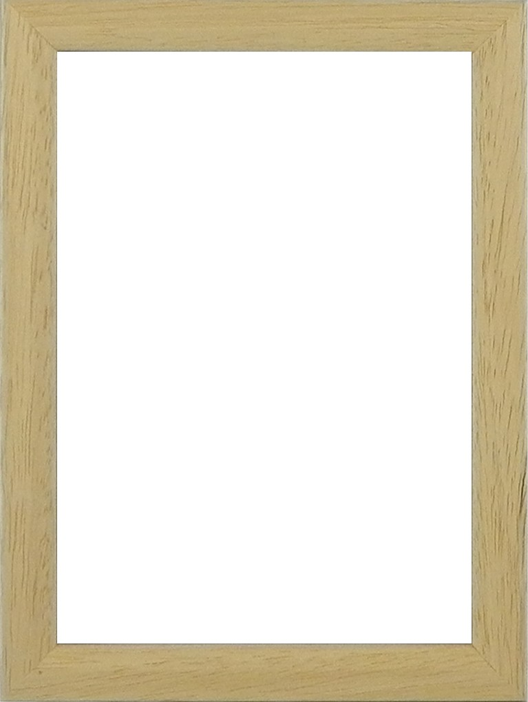Picture Frame Square Box sm Natural Timber