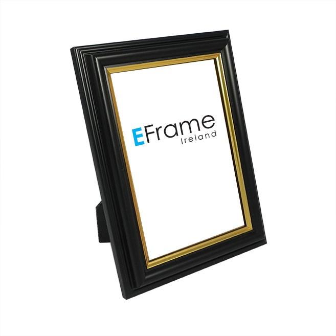 Photo Frame - Black Gold Line