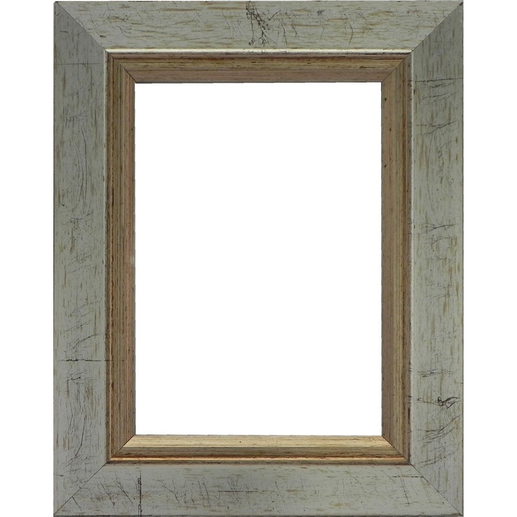 Picture Frame Rustic Antique Silver
