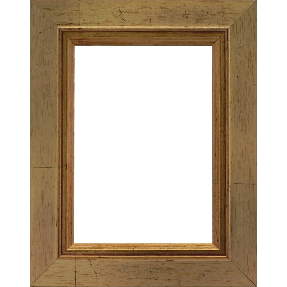 Picture Frame Rustic Antique Gold