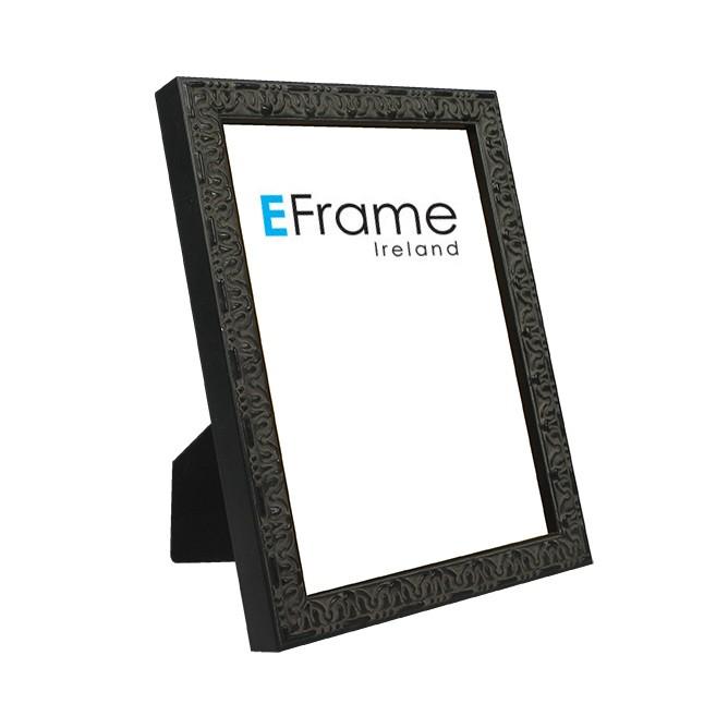 Photo Frame Ornate Black