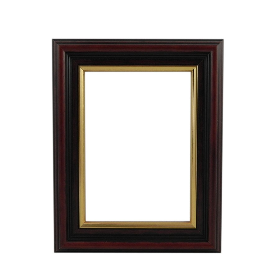 Brown With Gold Edge picture frame - white background