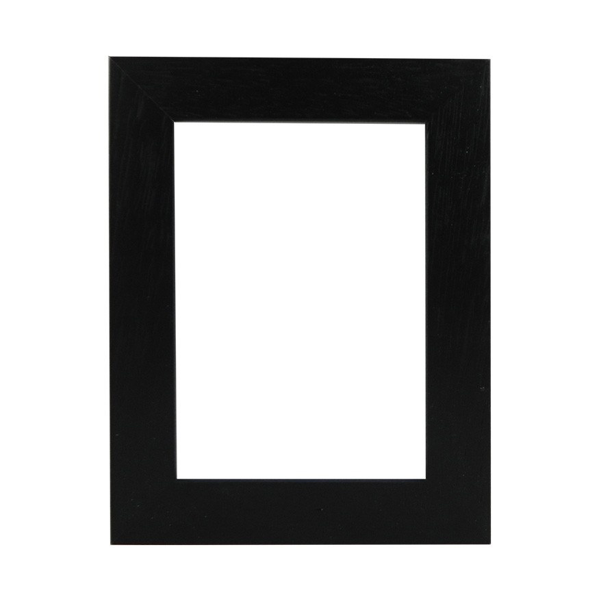 Picture Frame - Flat Open Grain Black