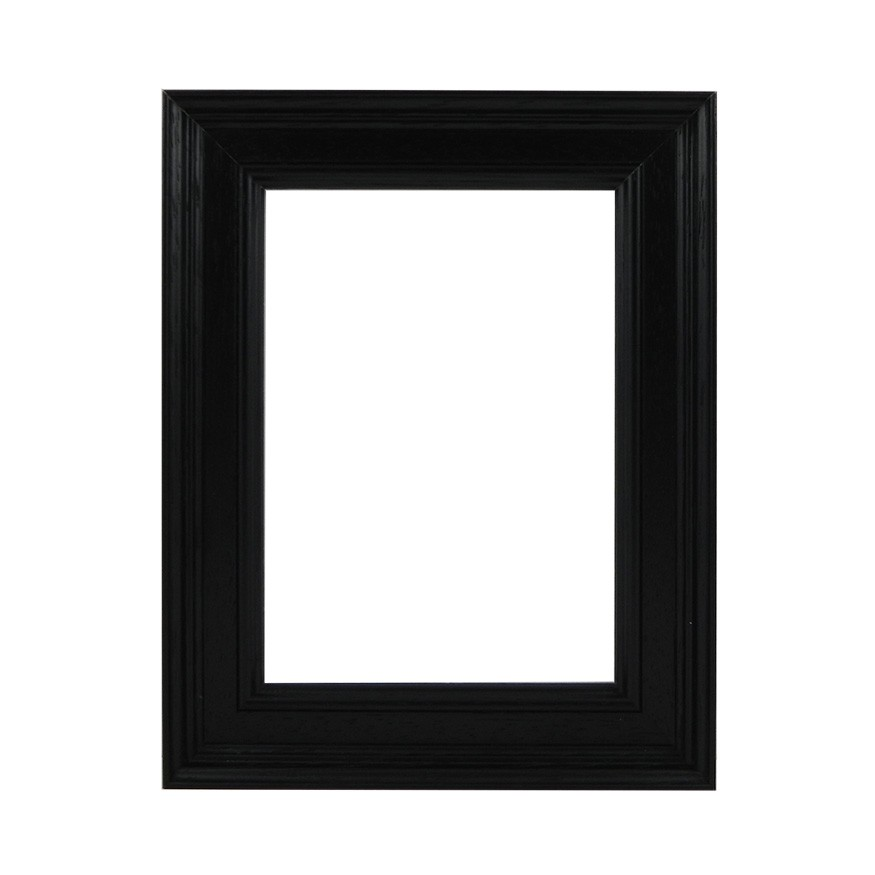 Picture Frame - Open Grain Black Stepped