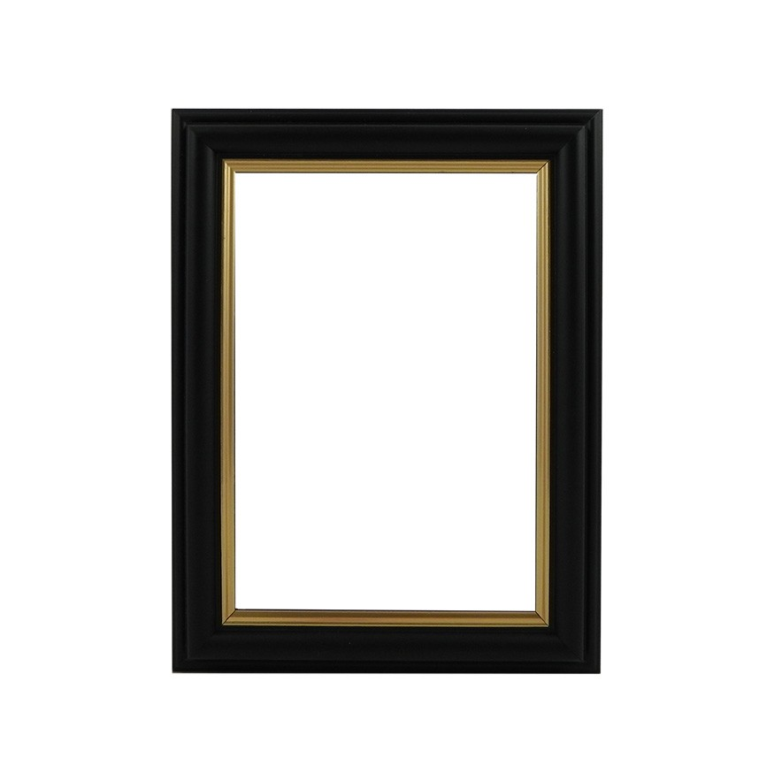 Picture Frame - Black With Gold Edge