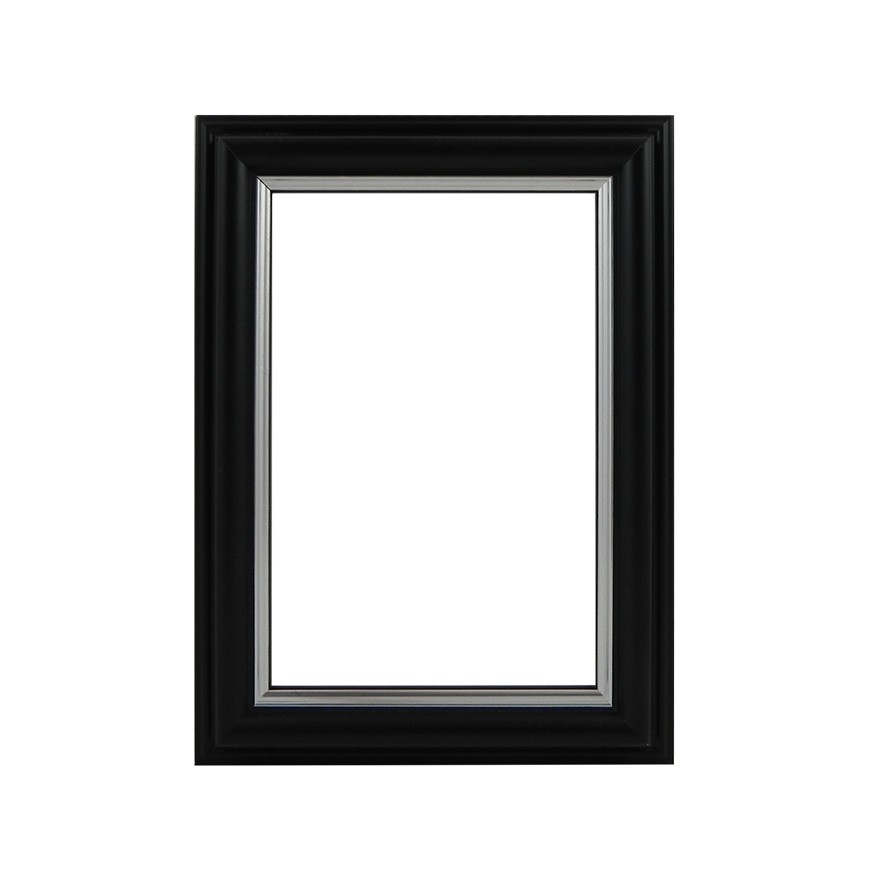 Picture Frame - Black With Silver Edge