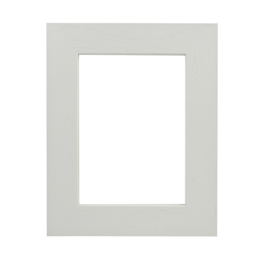 Picture Frame - Flat Open Grain White Wide