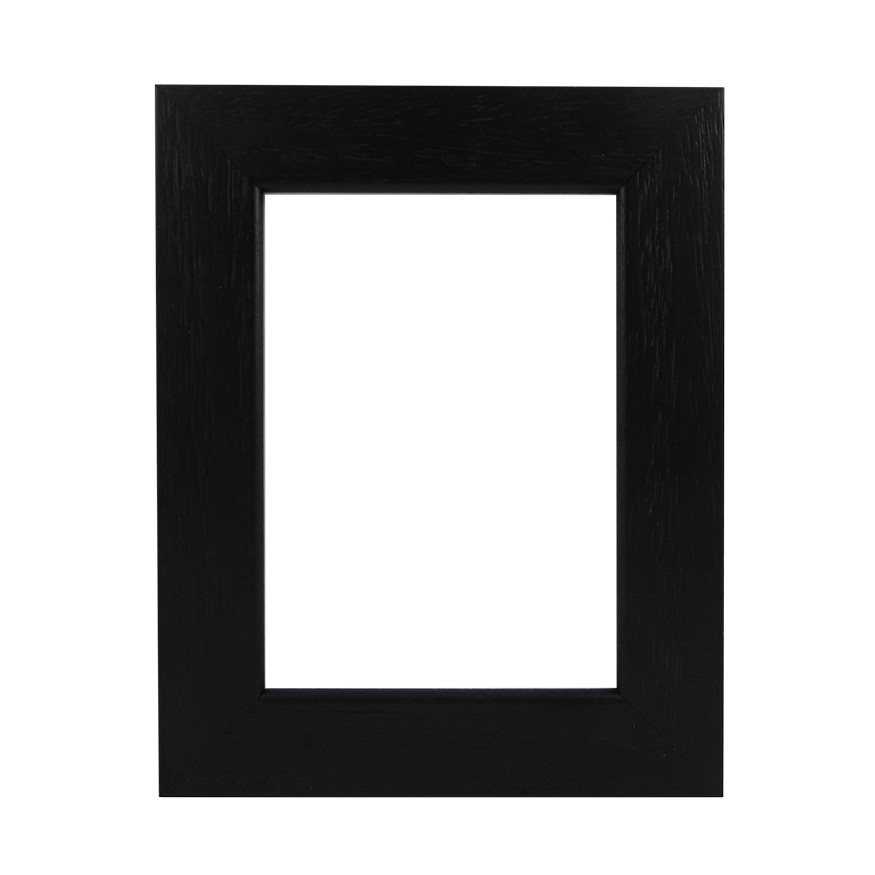Picture Frame - Flat Open Grain Black Wide