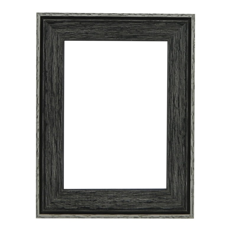 Santorini Black Whitewash Picture Frame