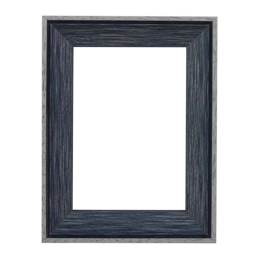 Santorini Blue Whitewash Picture Frame