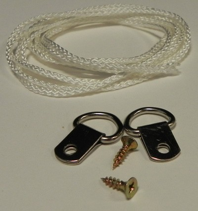D-rings (x2) & 1 Mtr cord