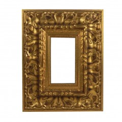 Picture Frame Reverse Ornate Gold