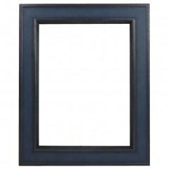 Picture Frame Portobello Blue - Gun Metal Edge