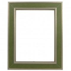 Picture Frame Portobello Verde Green - Gun Metal Edge