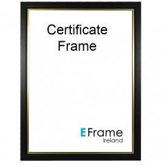 Picture Frame Certificate Frame A4 Black Gold Slip