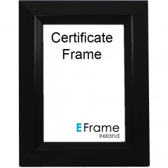 Picture Frame Certificate Frame A4 Black Chamgered Edge