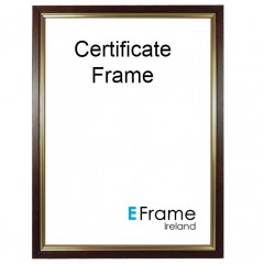 Picture Frame Certificate Frame A4 Brown Gold Slip