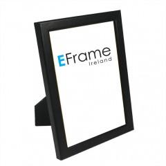Picture Frame Black Rounded Open Grain Slim Photo Frame