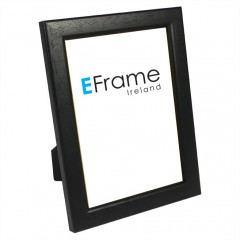 Picture Frame Black Rounded Open Grain Photo Frame