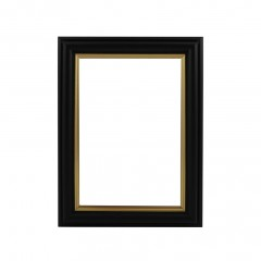 Picture Frame Black With Gold Edge