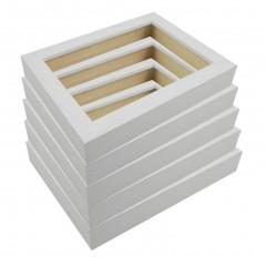 Picture Frame Open Grain White 32 - 5 Pack