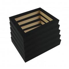 Picture Frame Open Grain Black 32 - 5 Pack