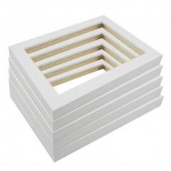 Picture Frame Open Grain White 21 - 5 Pack