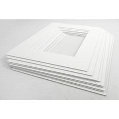 """Picture Frame White Core Mount - Frame 12"""" x 12"""" Photo 8"""" x 8"""" Pack of 10"""