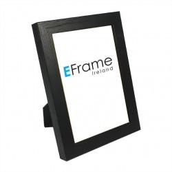 Black Open Grain Photo Frame