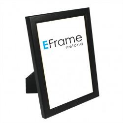 Black Rounded Open Grain Slim Photo Frame