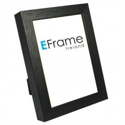 Black Open Grain 19mm Photo Frame