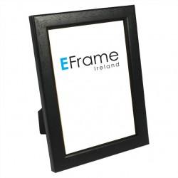Black Rounded Open Grain Photo Frame