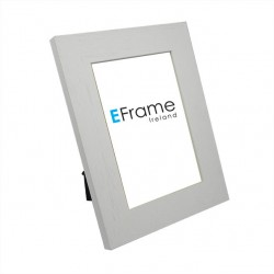 Scratched Grain White Photo Frame