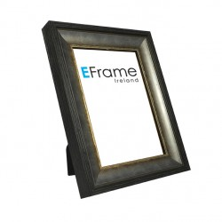 Contemporary black/silver photo frame