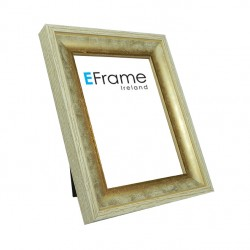 Contemporary white/gold photo frame