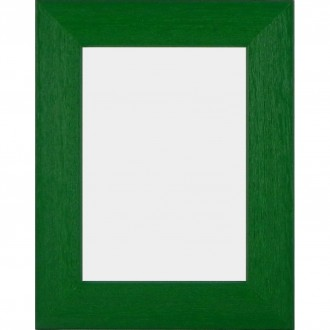 Solid Wood Scratched Grain Picture Frame Green