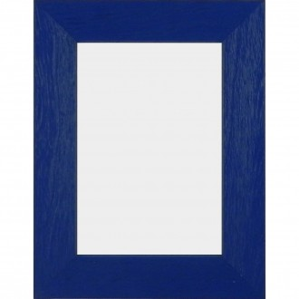 Solid Wood Scratched Grain Picture Frame Blue