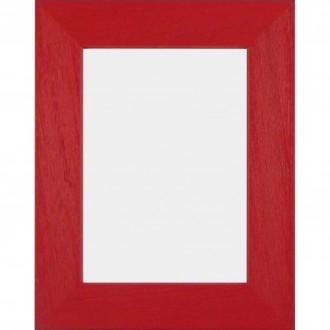 Solid Wood Scratched Grain Picture Frame Red