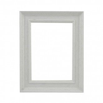 Picture Frame - Scoop Open Grain White Scooped
