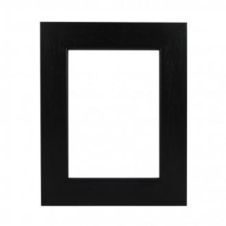 Picture Frame - Flat Open Grain Black Wide