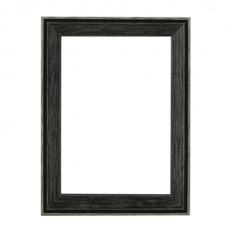 Santorini Black Whitewash Picture Frame