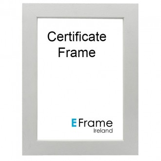 Poster Frame Open Grain White