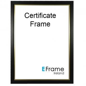 A4 Certificate Frame Black